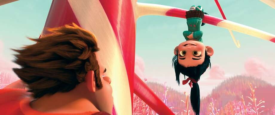 "This film image released by Disney shows Ralph, voiced by John C. Reilly, left, and Vanellope Von Schweetz, voiced by Sarah Silverman in a scene from ""Wreck-It Ralph."" (AP Photo/Disney) Photo: Disney, Associated Press"