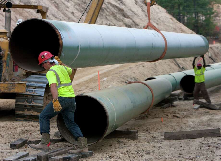 The Keystone XL, part of which is in Wood County, is an issue for Barack Obama. Photo: Cody Duty, Staff / Houston Chronicle