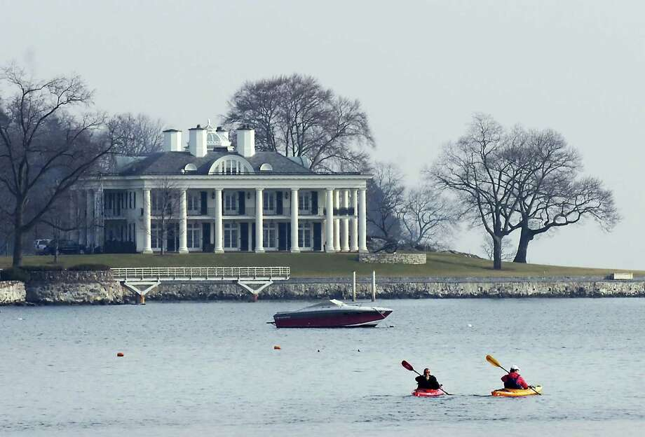 Mansions such as the one belonging to Paul Tudor Jones, seen above in this file photo, make ZIP codes in Greenwich among the priciest in the nation, according to Forbes Magazine. Photo: Bob Luckey, ST / Greenwich Time