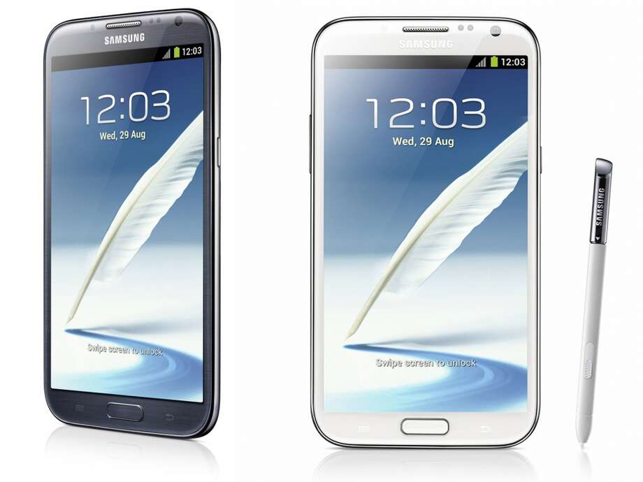 Galaxy Note IISamsung5.5-inch touch screen16GBQuad-core processor4GJelly BeanUses stylusCameraAvailable since last week (Courtesy Samsung)