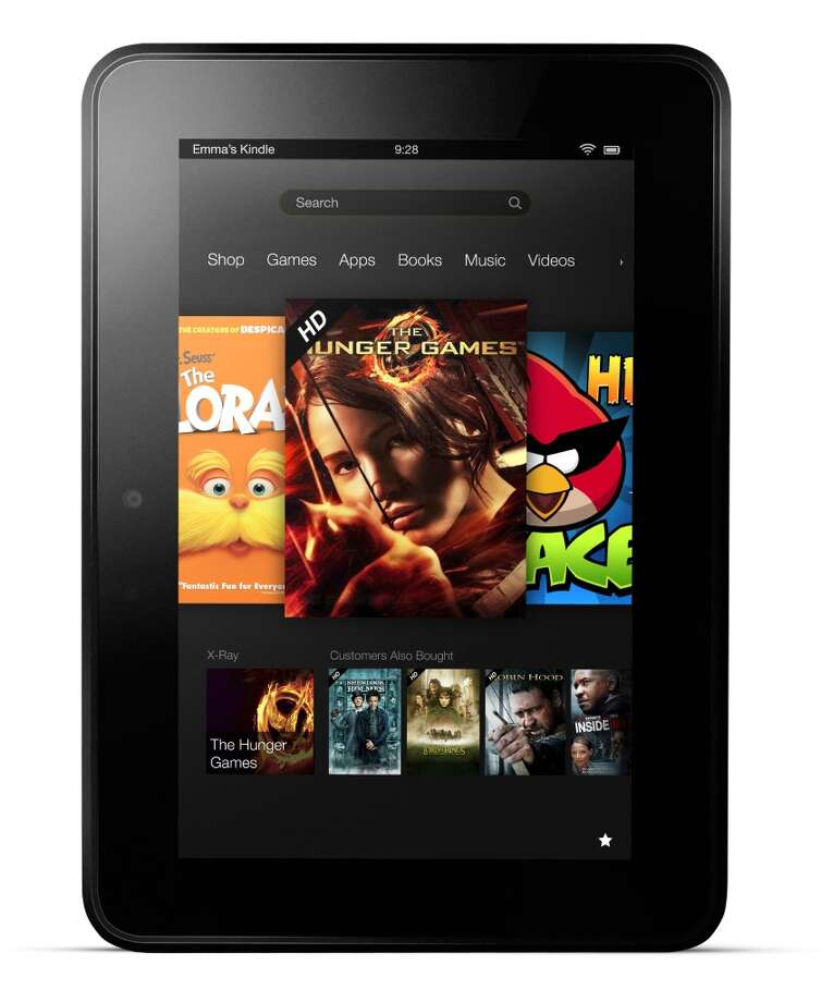 Kindle Fire HDAmazon8.9-inch touch screen1920x1200 resolution9.45 x 6.5 x 0.35 inches20 ounces16GB to 64GBDual-core processor Starting at $299 for Wi-Fi  modelStarting at $499 for Wi-Fi plus 4G model,  with data plan at $50 a yearAvailable Nov. 20 (Courtesy Amazon)