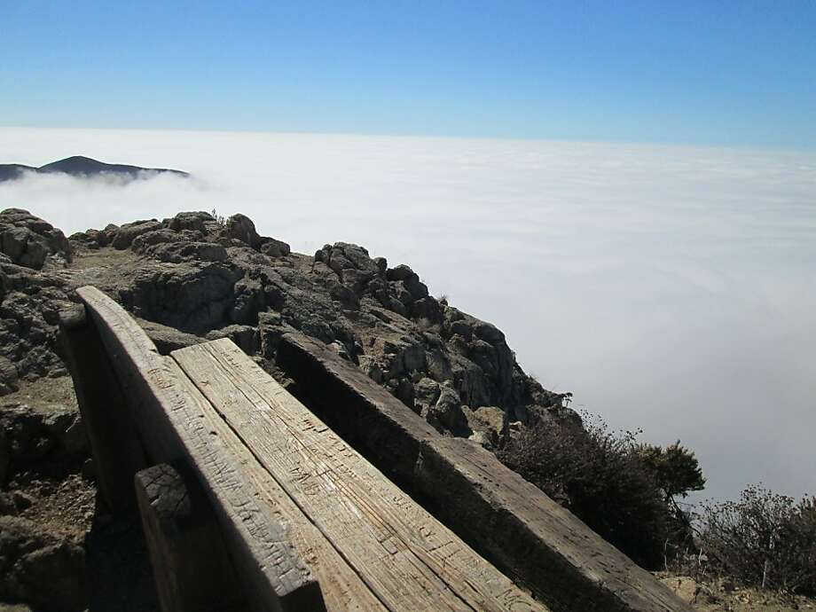 Lookout Bench is at 1,450 feet on a crag along the Rocky Ridge Trail, a 3-mile climb to Summit Rock at Garrapata State Park. Photo: Tom Stienstra, San Francisco Chronicle
