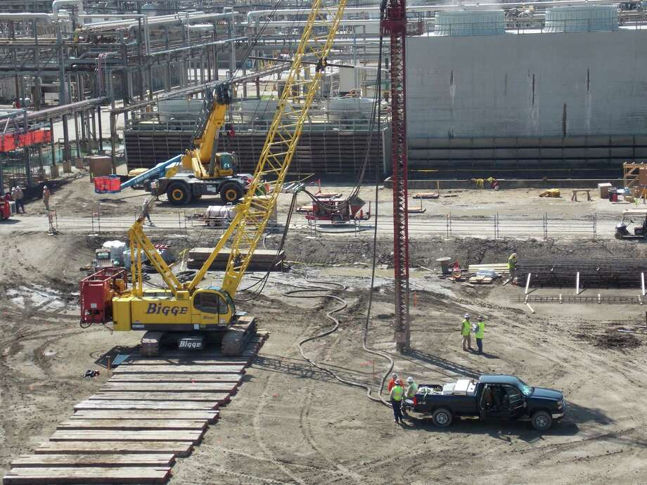 Construction at Chevron Phillips' Chemical's Cedar Bayou plant in Baytown will will be completed in early 2014. The expansion there and at other Chevron Phillips plants along the Gulf Coast was prompted by low natural gas prices. Photo: Chevron Phillips