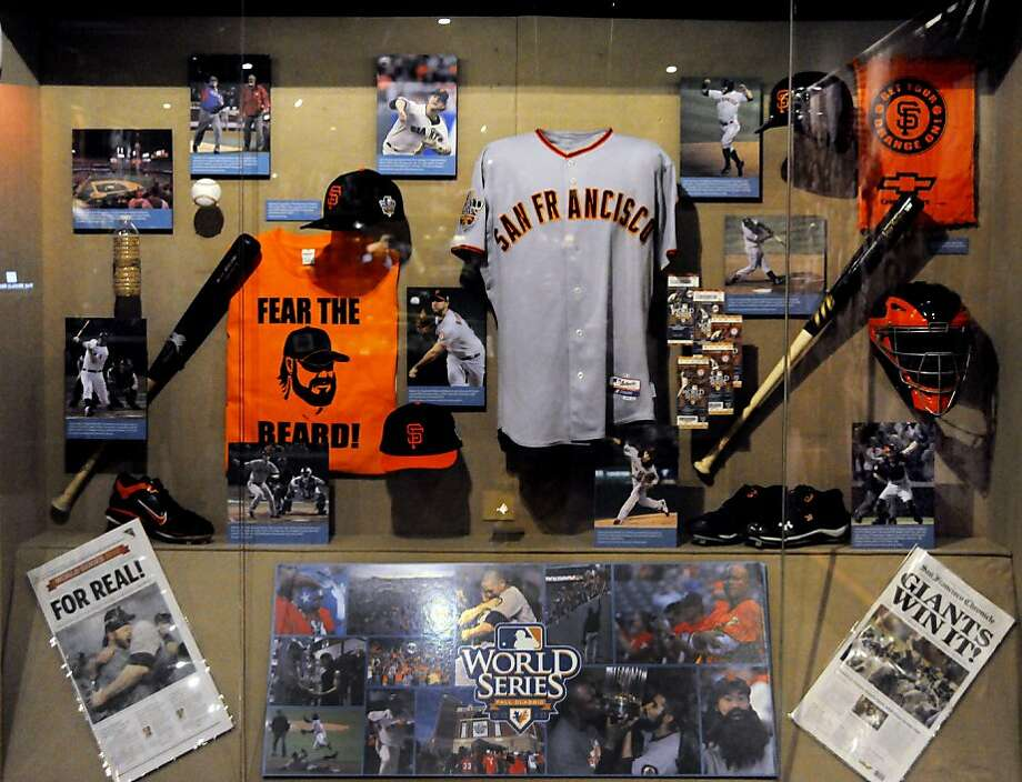 The san Francisco Giants exhibit at the National Baseball Hall of Fame in Cooperstown, NY. Photo: Milo Stewart Jr., National Baseball Hall Of Fame A