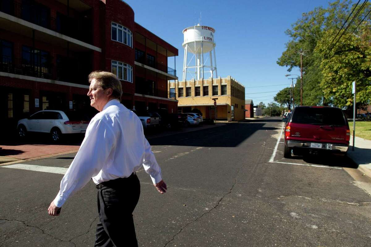Paul Sadler, walking through his hometown, Henderson, is well aware that Texas hasn't sent a Democrat to statewide office since 1994. Even so, he keeps pushing.