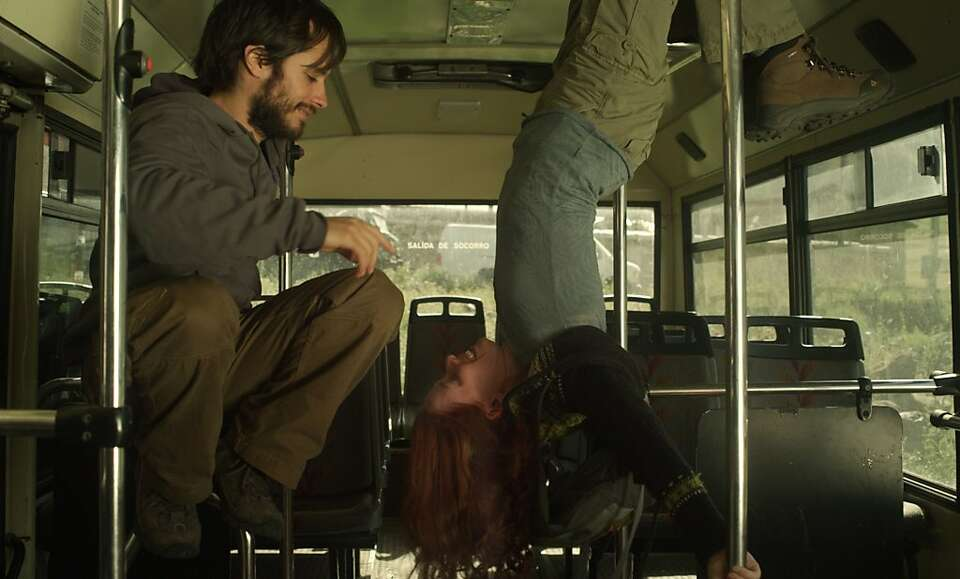 Gael García Bernal  (left) and Hani Furstenberg play a couple on a backpacking journey weeks before
