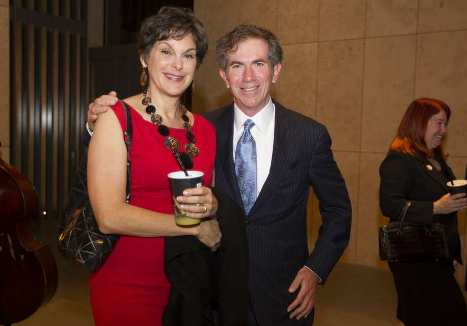 Texas Monthly's Mimi Swartz and Jeff Cohen, the Chronicle's executive editor of editorial pages.