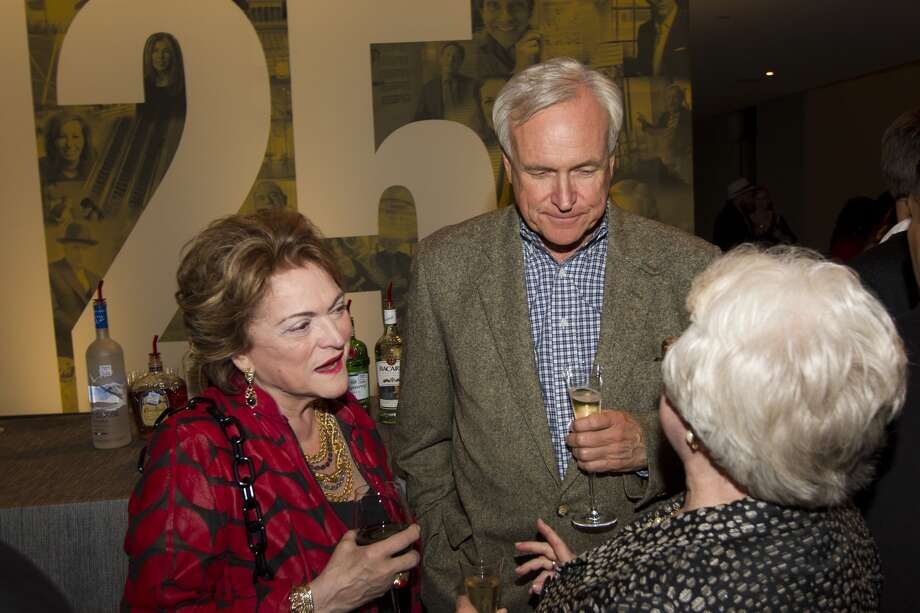 Beth Wolff and Houston Chronicle opinion columnist Bill King