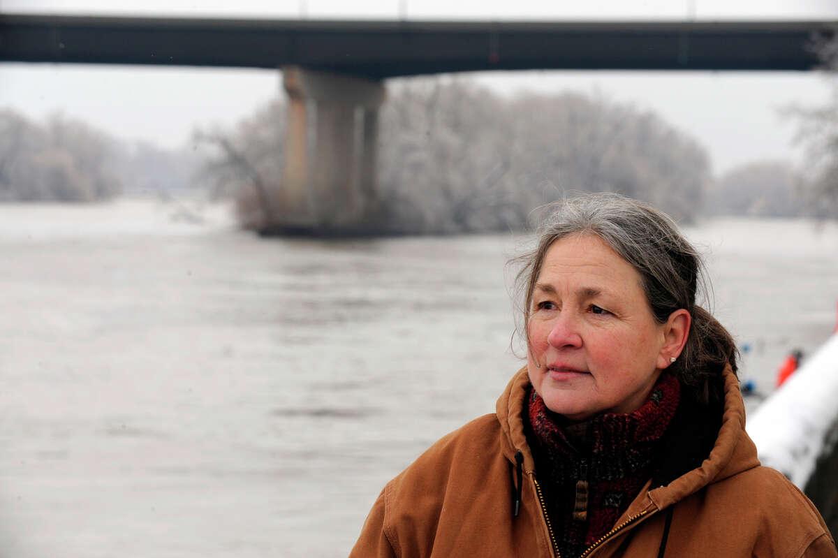Barbara Reeley, Jaliek's Grandmother watches New York State Police boats search the Hudson River for Jaliek Rainwalker in Troy, N.Y., Feb. 7, 2008. Rainwalker has been missing since Nov. 1, 2007. (Skip Dickstein / Times Union archive)