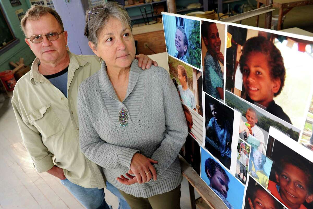 Dennis and Barbara Reeley, the adoptive grandparents of Jaliek Rainwalker, on the fifth anniversary of the boy's disappearance. Jaliek was 12 when he vanished from his adoptive parents' Washington County home in November 2007. Police believe foul play was involved but no one was ever charged in his disappearance.(Cindy Schultz / Times Union)