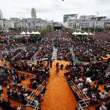 The city of San Francisco celebrated the Giants victory as World Series Champions with a parade and ceremony at Civic Center Plaza on Wednesday, October 31, 2012.
