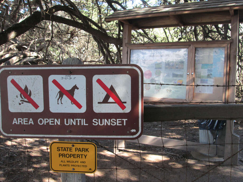 A small billboard is the only sign that this is Garrapata State Park (Tom Stienstra/The Chronicle)