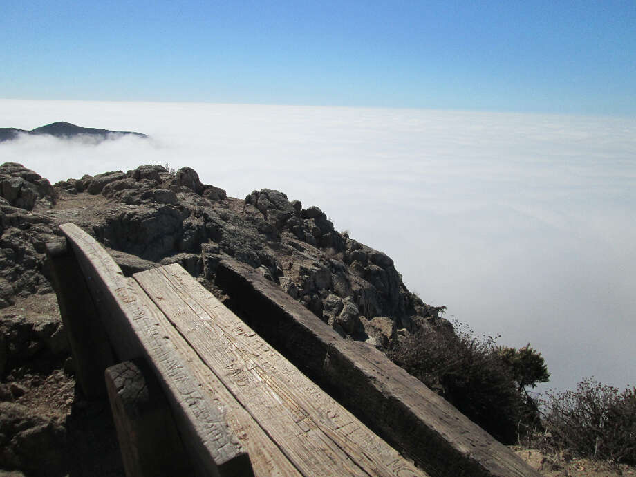 Lookout Bench at 1,400 feet on a crag, looking south (Tom Stienstra/The Chronicle)