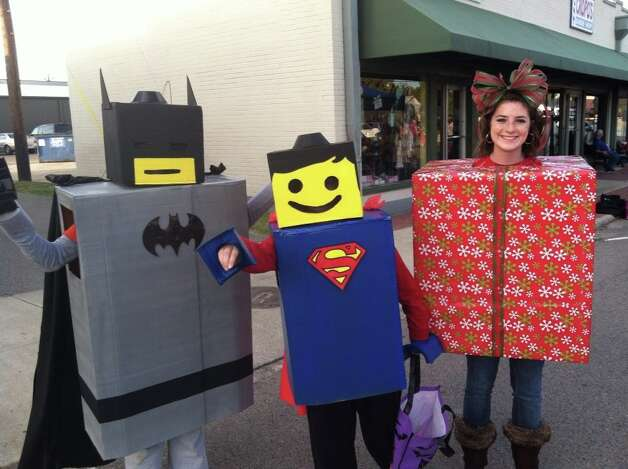 Lego Batman, Lego Superman & Christmas Present on Boston Ave in Nederland. Photo submitted by Bonnie Thierheimer.