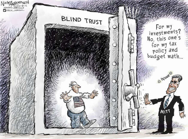 Oct. 17, 2012: Blind Trust Photo: Nick Anderson