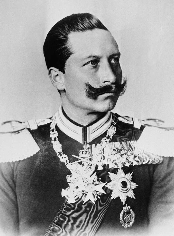 "German Emperor Kaiser Wilhelm II  of Germany appropriately sports a AMI definition: ""A large mustache growing from both the upper lip and cheeks, whiskers from the cheeks are styled pointing upward."" Photo: ASSOCIATED PRESS / AP1894"