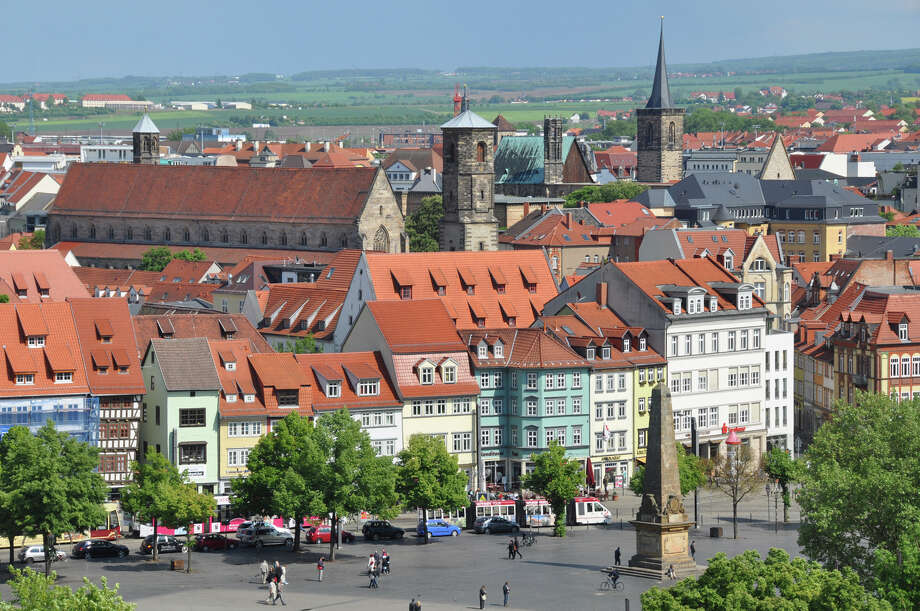 Erfurt, with its half-timbered, many-steepled medieval townscape and shallow river gurgling through the middle, is an inviting destination. Photo: Cameron Hewitt, Ricksteves.com