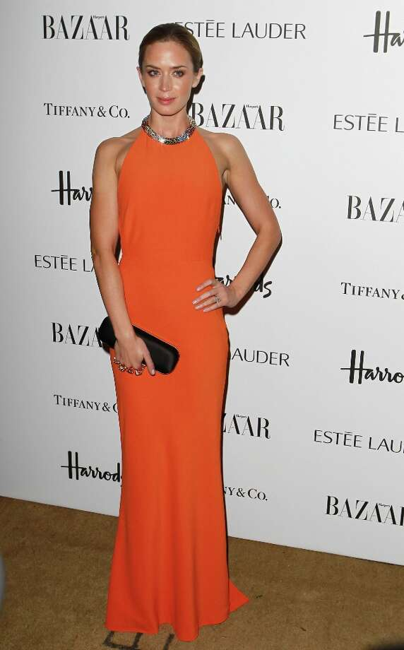 Emily Blunt attends the Harper's Bazaar Woman of the Year Awards at Claridge's Hotel on October 31, 2012 in London, England. Photo: Fred Duval, Getty Images / 2012 Getty Images