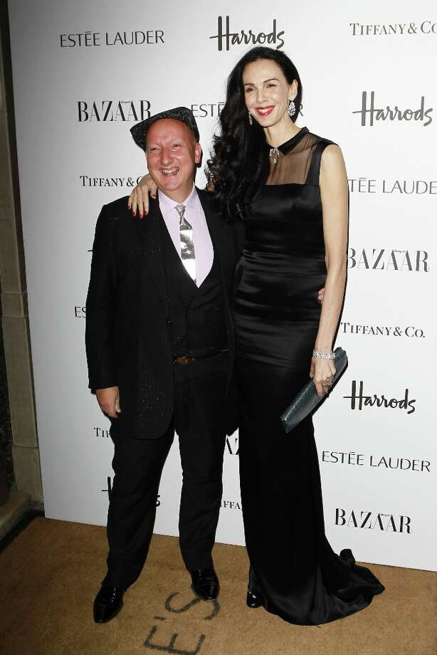 Stephen Jones and L'Wren Scott attend the Harper's Bazaar Woman of the Year Awards at Claridge's Hotel on October 31, 2012 in London, England. Photo: Fred Duval, Getty Images / 2012 Getty Images