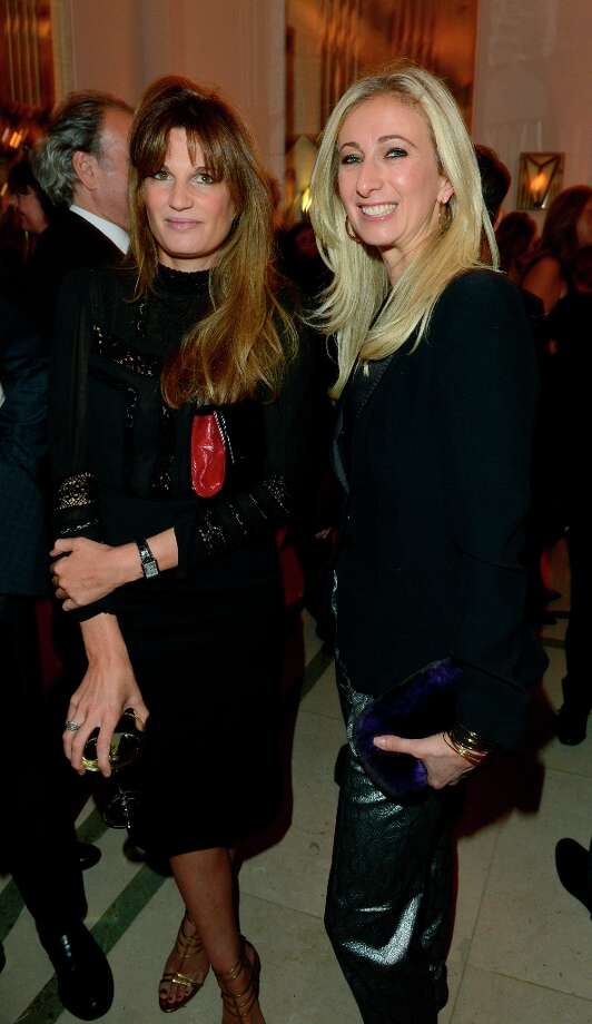 Jemima Khan, left, is seen at the Harper's Bazaar Woman of the Year Awards 2012 in association with Estée Lauder, Harrods and Tiffany & Co. at Claridge's Hotel on Wednesday, Oct. 31, 2012 in London. Photo: Jon Furniss, Jon Furniss/Invision/AP / Invision2012