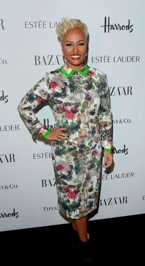 Emilie Sande is seen at the Harper's Bazaar Woman of the Year Awards 2012 in association with Estée Lauder, Harrods and Tiffany & Co. at Claridge's Hotel on Wednesday, Oct. 31, 2012 in London. Photo: Jon Furniss, Associated Press / Invision