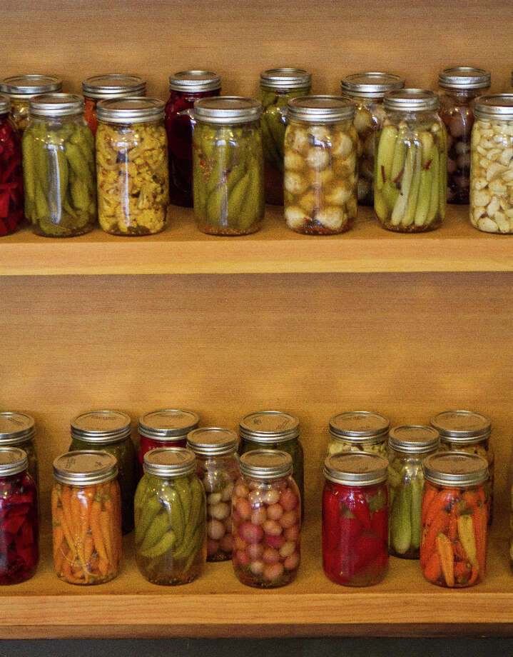 Pickles on display at Pig and Pie. Photo: John Storey, Special To The Chronicle / ONLINE_Yes