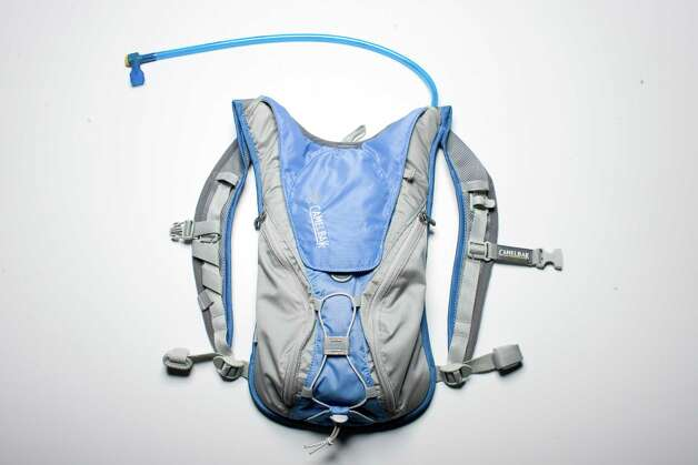 Frisco's Michael Eidson came up with the Camelbak and other traveler's tools.  Photo: Buster Dean, Houston Chronicle / Houston Chronicle