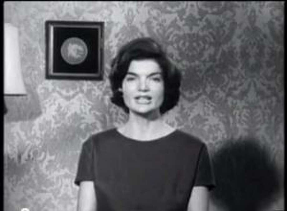 "Jackie Kennedy in ""Political Advertisement VIII: 1952-2012,"" by media artists Muntadas and Marshall Reese. The film will be screened at The Sanctuary for Independent Media. (http://www.mediasanctuary.org)"