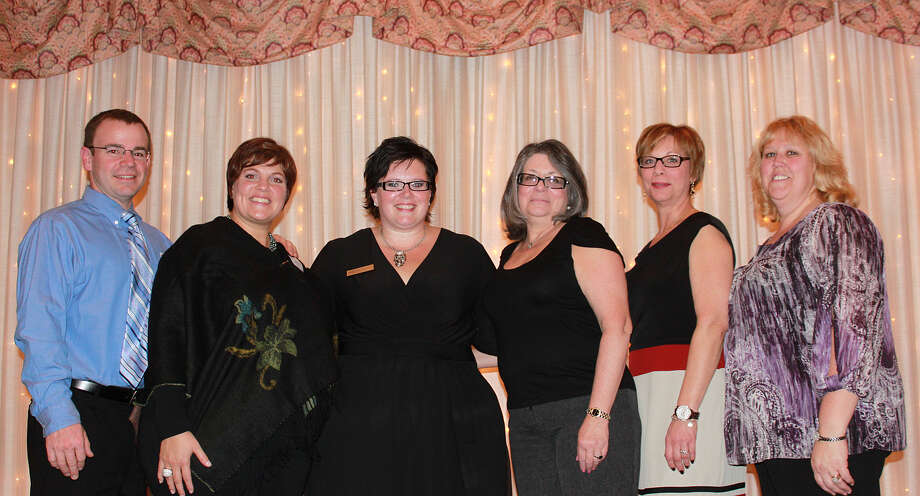 Pictured left to right: Jason Page (Beth?s Husband), Beth Page (5th grade teacher at MTN), Karen Parlapiano (Region Director for the Northeastern Region PTA), Janet Meyerson (New York State PTA Vice President), Clare Hart (Northeastern Region PTA Event Chairman) and Penny Hollister (NYS PTA Secretary). (submitted photo)