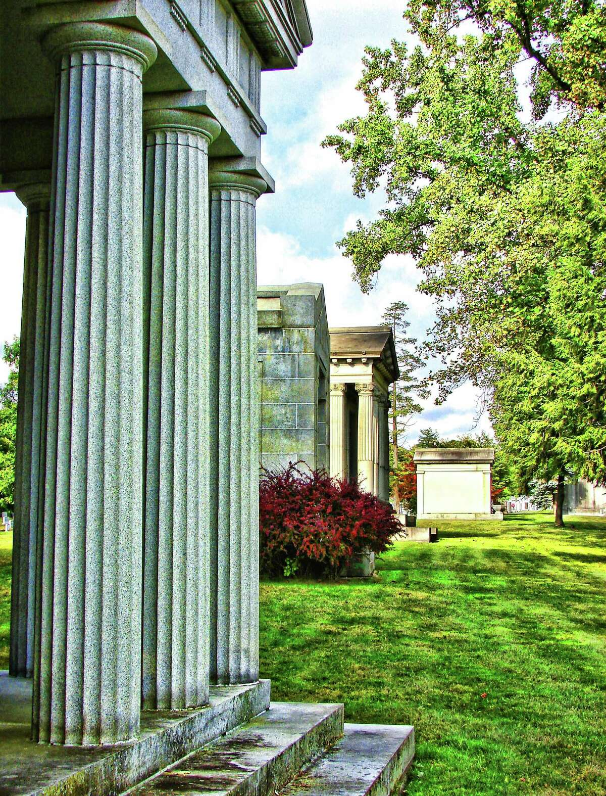 St. Agnes Cemetery's winning photo by Jeanne Keefe of Troy