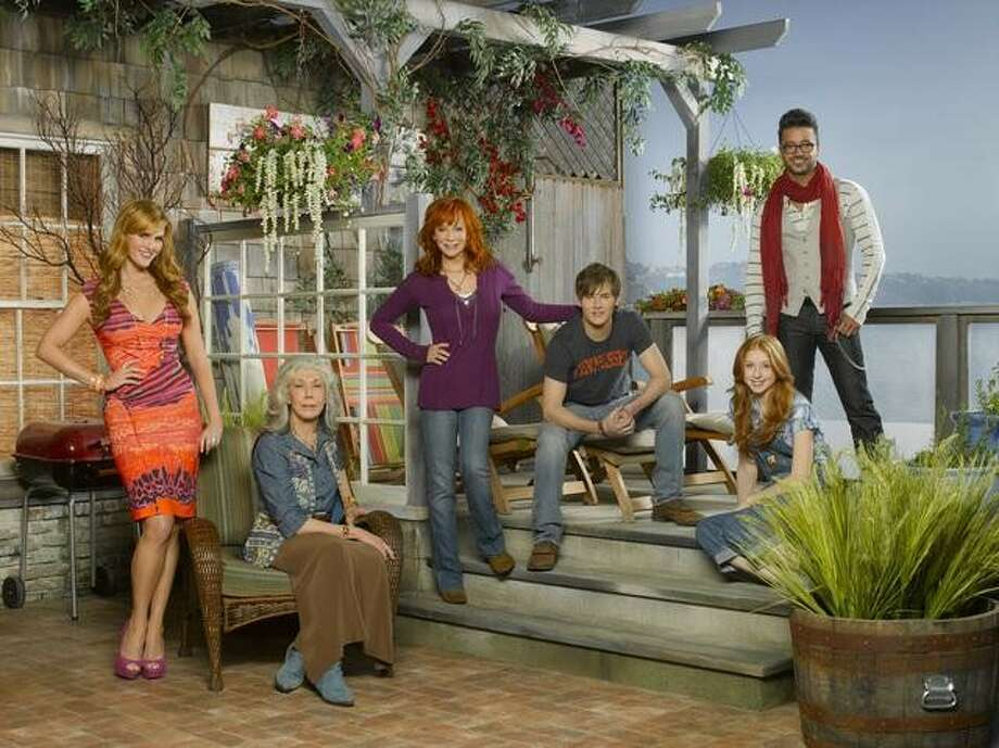"MALIBU COUNTRY - ""Malibu Country"" stars country music superstar Reba McEntire as Reba, Sara Rue as Kim, Justin Prentice as Cash, Juliette Angelo as June, Jai Rodriguez as Geoffrey and Lily Tomlin as Lillie Mae. ""Malibu Country"" is from Kevin Abbott who executive produces along with Michael Hanel & Mindy Schultheis, Reba McEntire & Narvel Blackstock, Dave Stewart & Pam Williams, John Pasquin. The pilot for ""Malibu Country"" was directed by John Pasquin. The series is from ABC Studios. (ABC/EDWARD HERRERA) SARA RUE, LILY TOMLIN, REBA MCENTIRE, JUSTIN PRENTICE, JULIETTE ANGELO, JAI RODRIGUEZ Photo: Edward Herrera / © 2012 American Broadcasting Companies, Inc. All rights reserved."