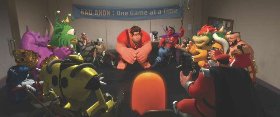 "Walt Disney Animation Studios ""WRECK-IT RALPH""   (Pictured) RALPH (voice of John C. Reilly) amongst other video game bad guys.  AƒA'A'A©2012 Disney. All Rights Reserved. Photo: Disney / ©2012 Disney. All Rights Reserved."