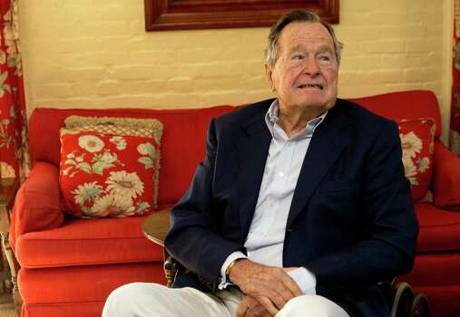 Former President George H.W. Bush, in Houston Nov. 1, 2012.  Photo: Brett Coomer, Houston Chronicle / © 2012 Houston Chronicle