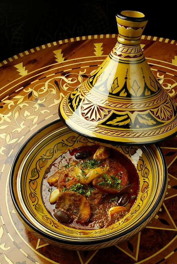 A fish tagine at El Mansour, a Moroccan restaurant. Photo: Craig Lee, SFC 2004