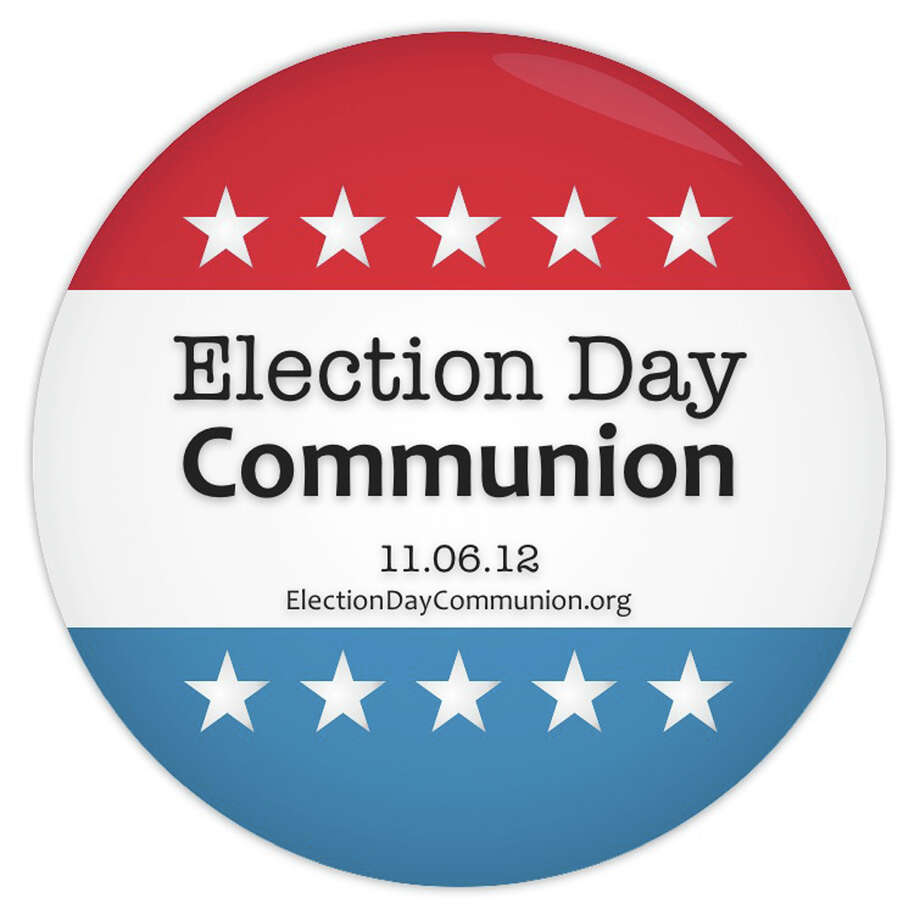 More than 400 churches are preparing for a new tradition: Election Day Communion, when people of every political stripe will leave their respective partisan bunkers and line up side by side to receive the sacrament on Election Day.  RNS photo courtesy Ben Irwin, ElectionDayCommunion.org Photo: RNS Photo Courtesy Ben Irwin, El