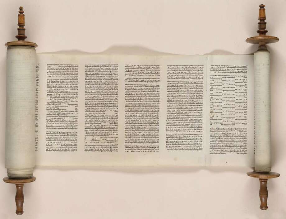"A Dutch-English Torah scroll is part of the Library of Congress' ""Words Like Sapphires"" exhibit. Photo: Library Of Congress"