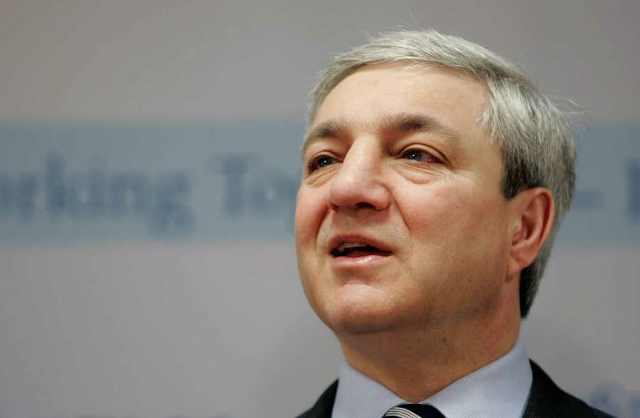 "FILE - In this March 7, 2007, file photo, Penn State University president Graham Spanier speaks during a news conference at the Penn State Milton S. Hershey Medical Center in Hershey, Pa.  Spanier is accused of perjury, endangering children and other charges in the Jerry Sandusky molestation scandal. According to online court records charges were filed, Thursday, Nov. 1, 2012, against Penn State's ex-president and two other administrators in what prosecutors called ?a conspiracy of silence."" (AP Photo/Carolyn Kaster, File) Photo: Carolyn Kaster, STF / AP"