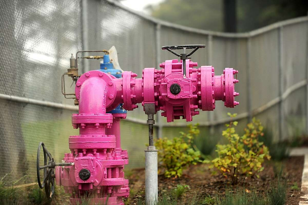 A component of the Harding Park golf course's recycled water irrigation system is pictured on Monday, Oct. 29, 2012, in San Francisco.