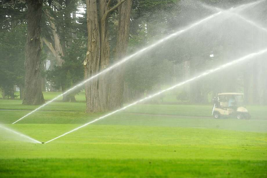 Recycled water helps keep the greens pristine at TPC Harding Park. The project is expected to save 230,000 gallons a day. Photo: Noah Berger, Special To The Chronicle
