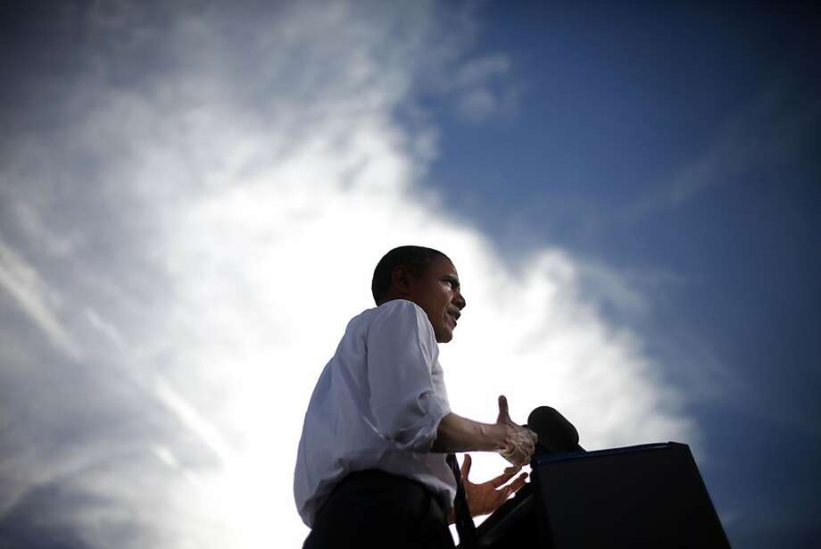 President Obama campaigns in Nevada. New York Mayor Michael Bloomberg has endorsed him as someone who sees climate change as a problem. Photo: Pablo Martinez Monsivais, Associated Press