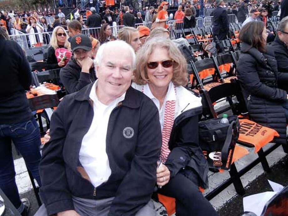 Giants exec Pat Gallagher and his wife, Joan Gallagher (Catherine Bigelow)