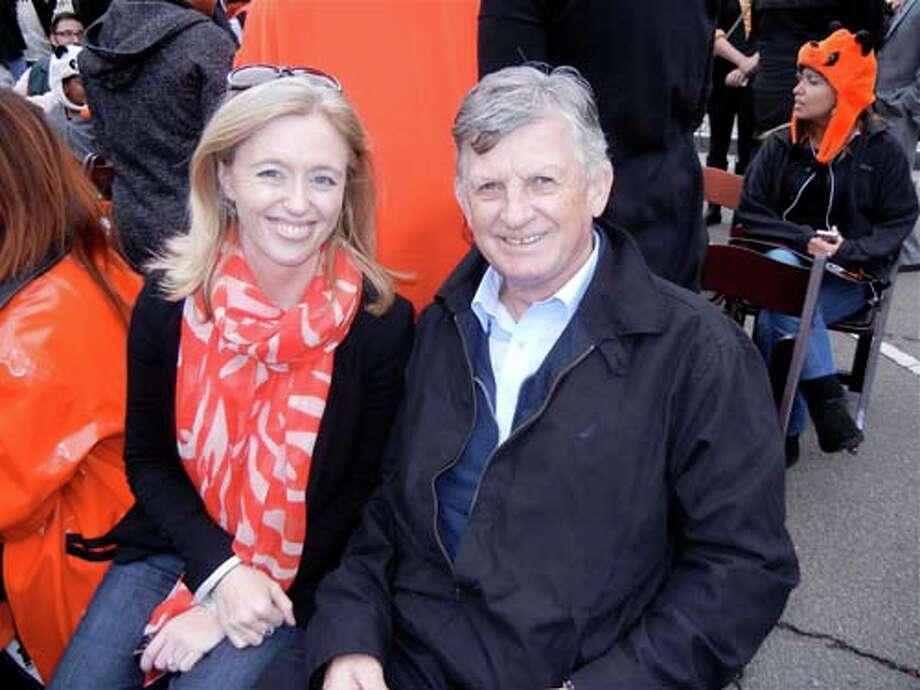 Irish Immigration & Pastoral Center's Celine Kennelly and Fr. Brendan McBride (Catherine Bigelow)