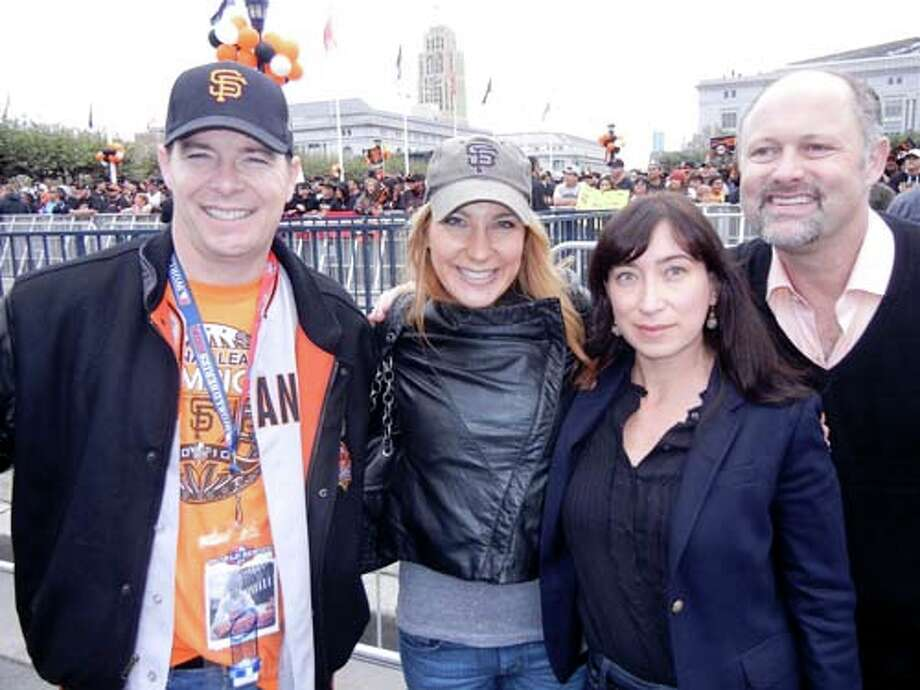 P.J. and Karin Johnston (left) with Danielle DuCaine and Jonathan Moscone (Catherine Bigelow)