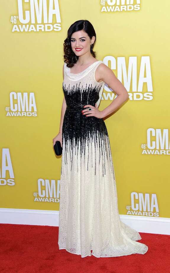 Singer/actress Lucy Hale attends the 46th annual CMA Awards at the Bridgestone Arena on November 1, 2012 in Nashville, Tennessee. Photo: Jason Kempin, Getty Images / 2012 Getty Images
