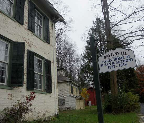 The property where Susan B. Anthony grew up in Battenville, part of Greenwich, NY, in October 2012. (Photo provided by Lisa Boehle)