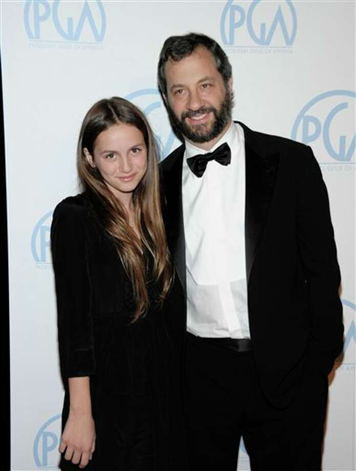 """Director Judd Apatow has given his oldest daughter Maude Apatow a career boost. She's been in his """"Knocked Up,"""" """"Funny People"""" and """"This Is 40."""" Photo: Dan Steinberg, ASSOCIATED PRESS / AP2012"""