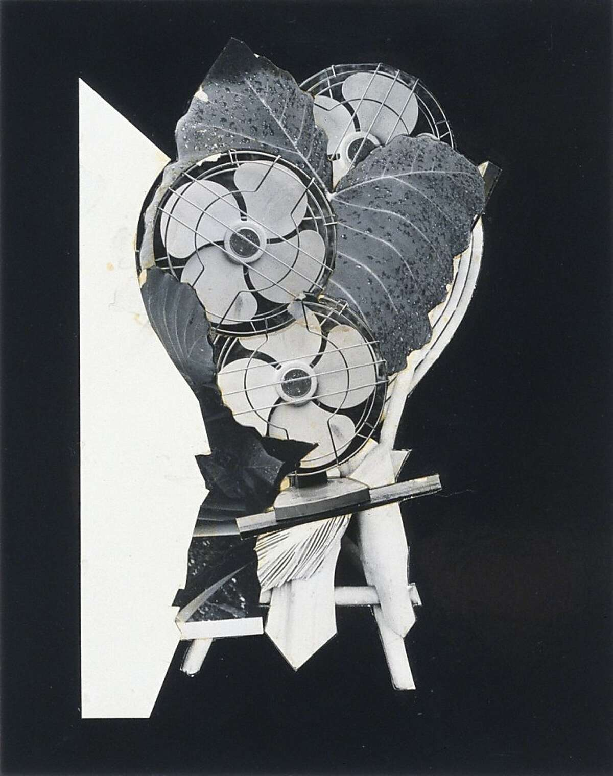 """""""Untitled (for B.C.)"""" (1973) photo collage by Jay DeFeo"""