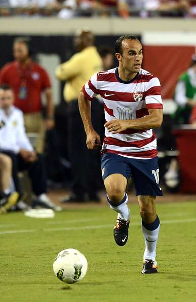JACKSONVILLE, FL - MAY 26:  Landon Donovan #10 of Team USA, had a hat trick against Team Scotland on