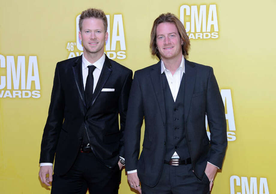 (L-R) Brian Kelly and Tyler Hubbard of Florida Georgia Line