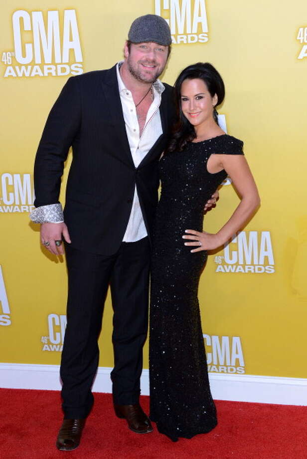 Country music artist Lee Brice and Sarah Reevely attend the 46th annual CMA Awards at the Bridgestone Arena on November 1, 2012 in Nashville, Tennessee. Photo: Jason Kempin, Getty Images / 2012 Getty Images